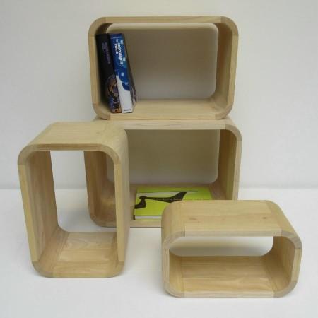 Cubes plywood 4x stapelkastje