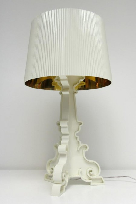 Bourgie lamp wit-verguld Kartell