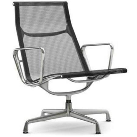 Eames EA 116 fauteuil netweave zwart Vitra