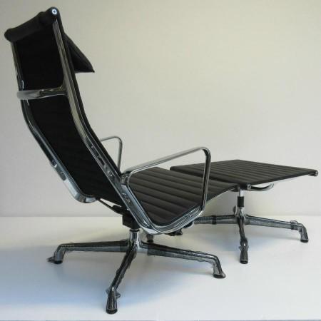 Eames Ea 124 + EA 125 / zwart leer Vitra