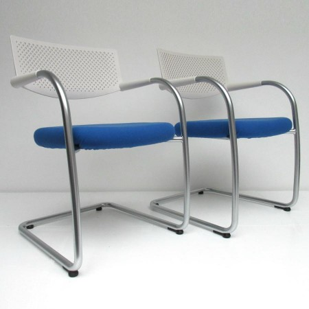 2x Visavis / bezoekersstoel Vitra