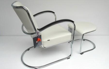 Gispen 412 fauteuil met hocker