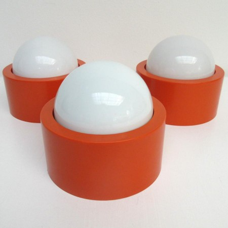 plafonniere 1960 set van 3 lampen