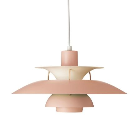 PH5 Louis Poulsen lamp pale rose