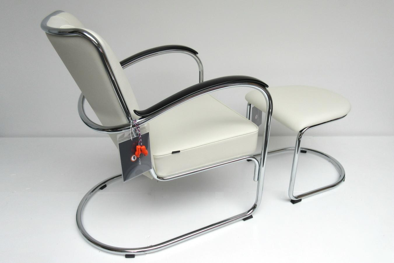Gispen s fauteuil met hocker hello design classics