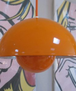 VERNER PANTON FLOWERPOT LAMP ORANJE 1
