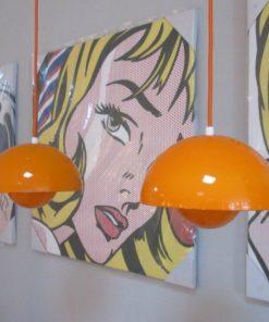 VERNER PANTON FLOWERPOT LAMP ORANJE 2