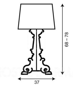 BOURGIE LAMP WIT GOUD KARTELL-4