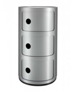 Componibili-zilver-Kartell-3-vakken-B