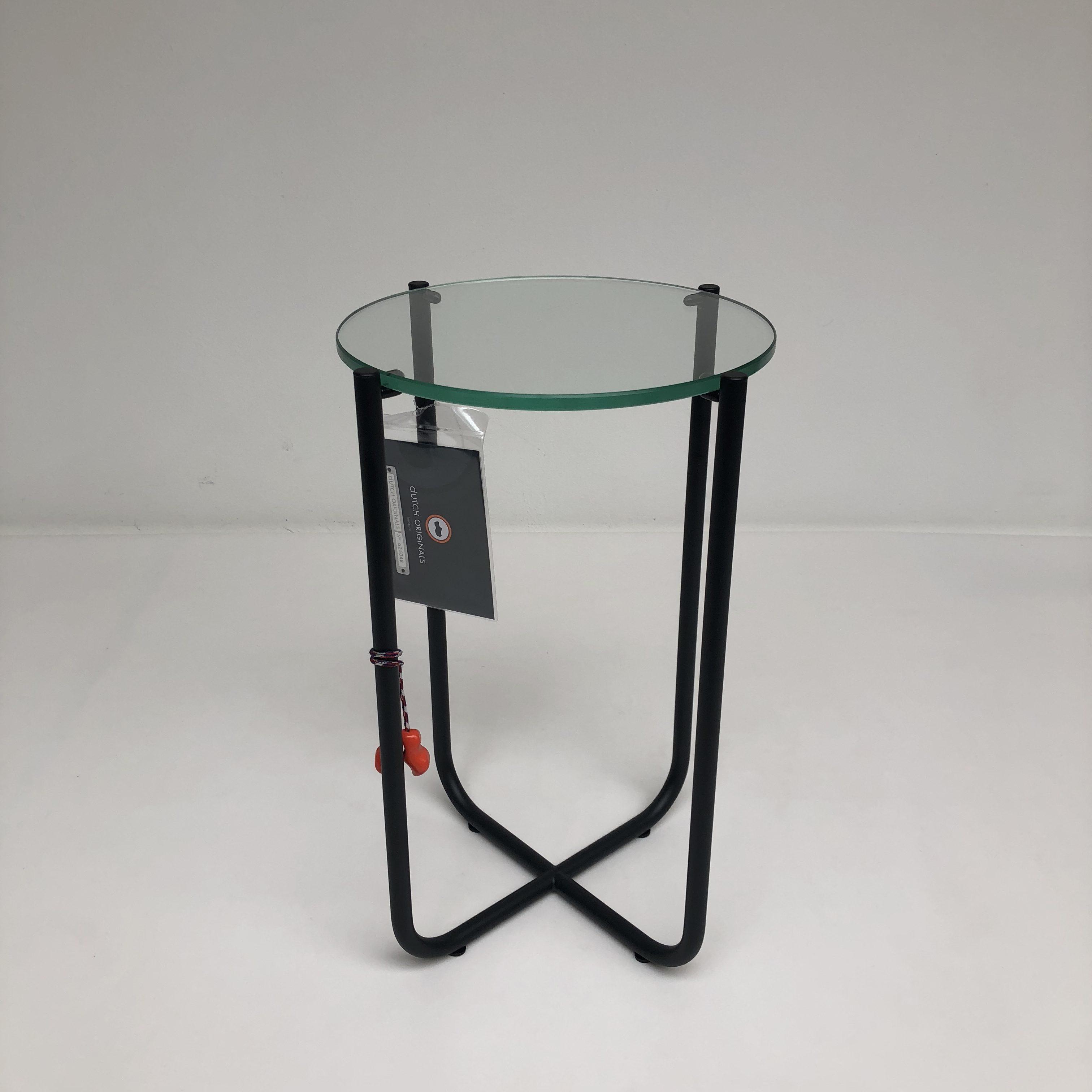 Design Bijzettafel Chroomglas.Gt 411 Bijzettafel Zwart Of Chroom Onderstel Met Glas Hello Design