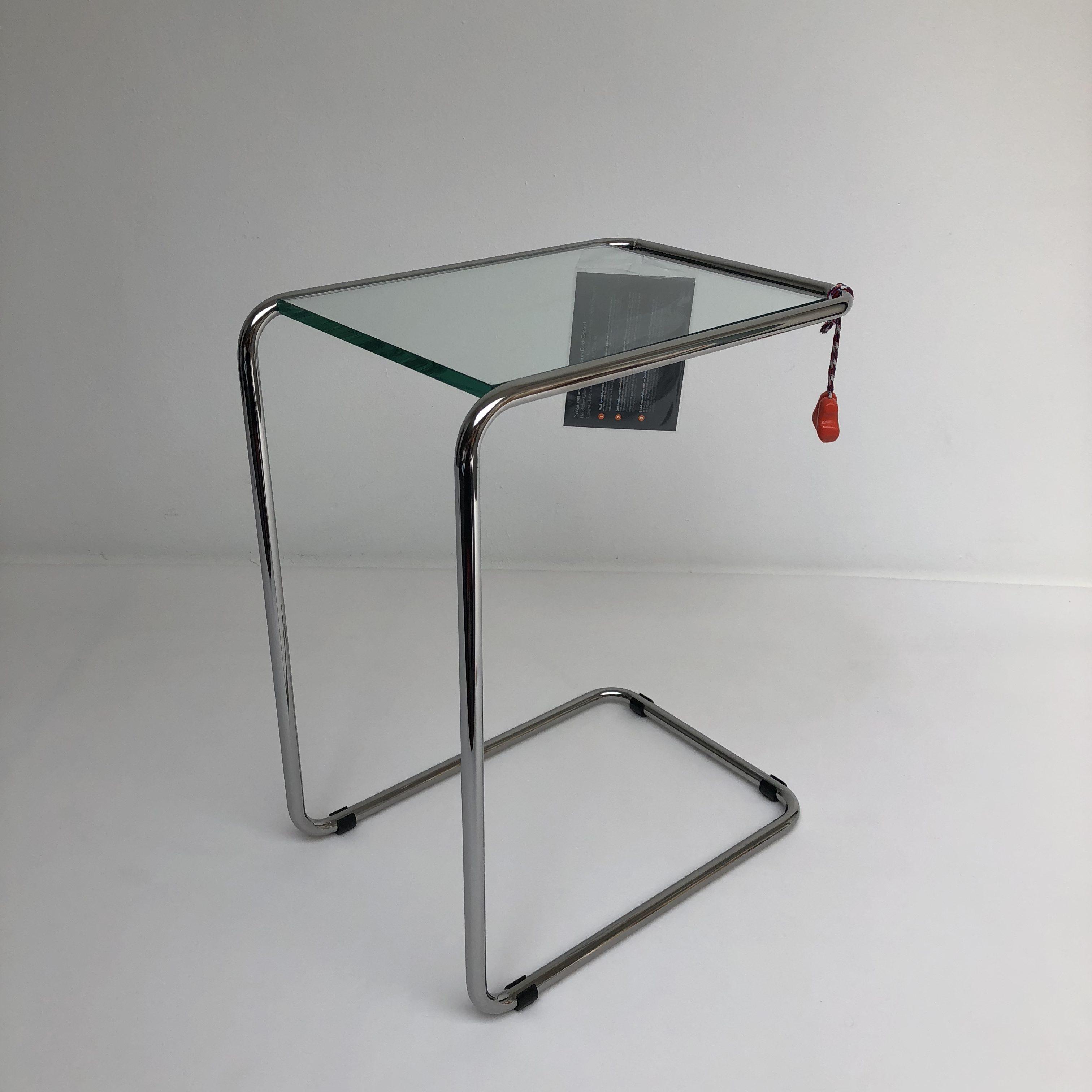Bijzettafel Gispen Glas.Gispen Today 530 Bijzettafel In Chroom En Glas