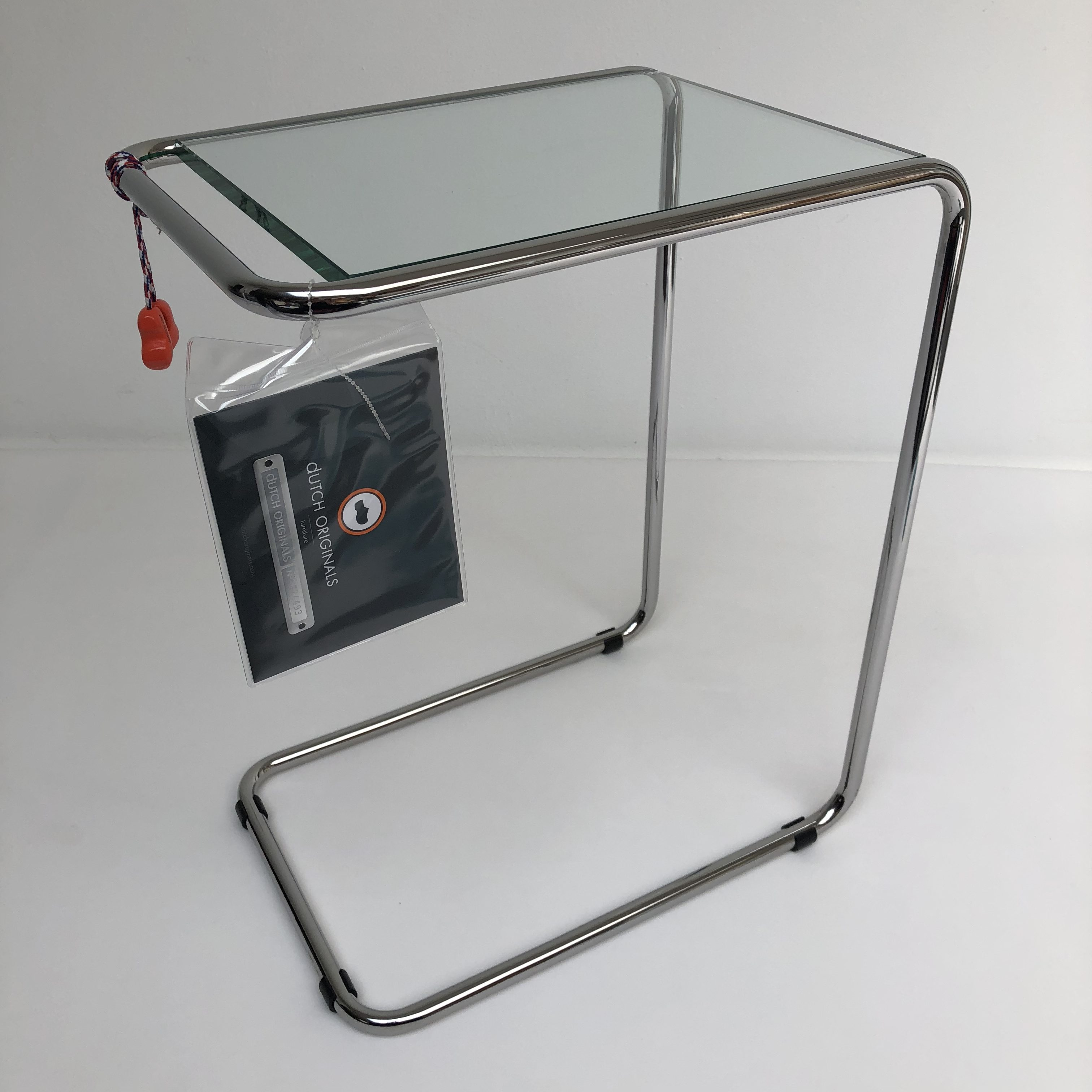 Bijzettafel In Glas.Gispen Today 530 Bijzettafel In Chroom En Glas Hello Design Classics