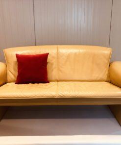 Jori Designbank leer in geel