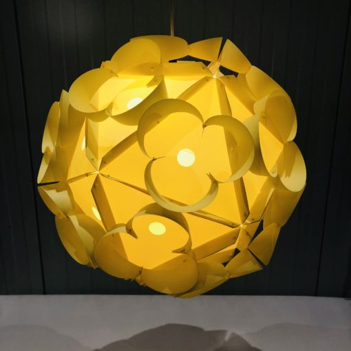 Yellow Vintage Hanging Light Plastic