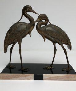 Art Deco Irénée Rochard Kraanvogels